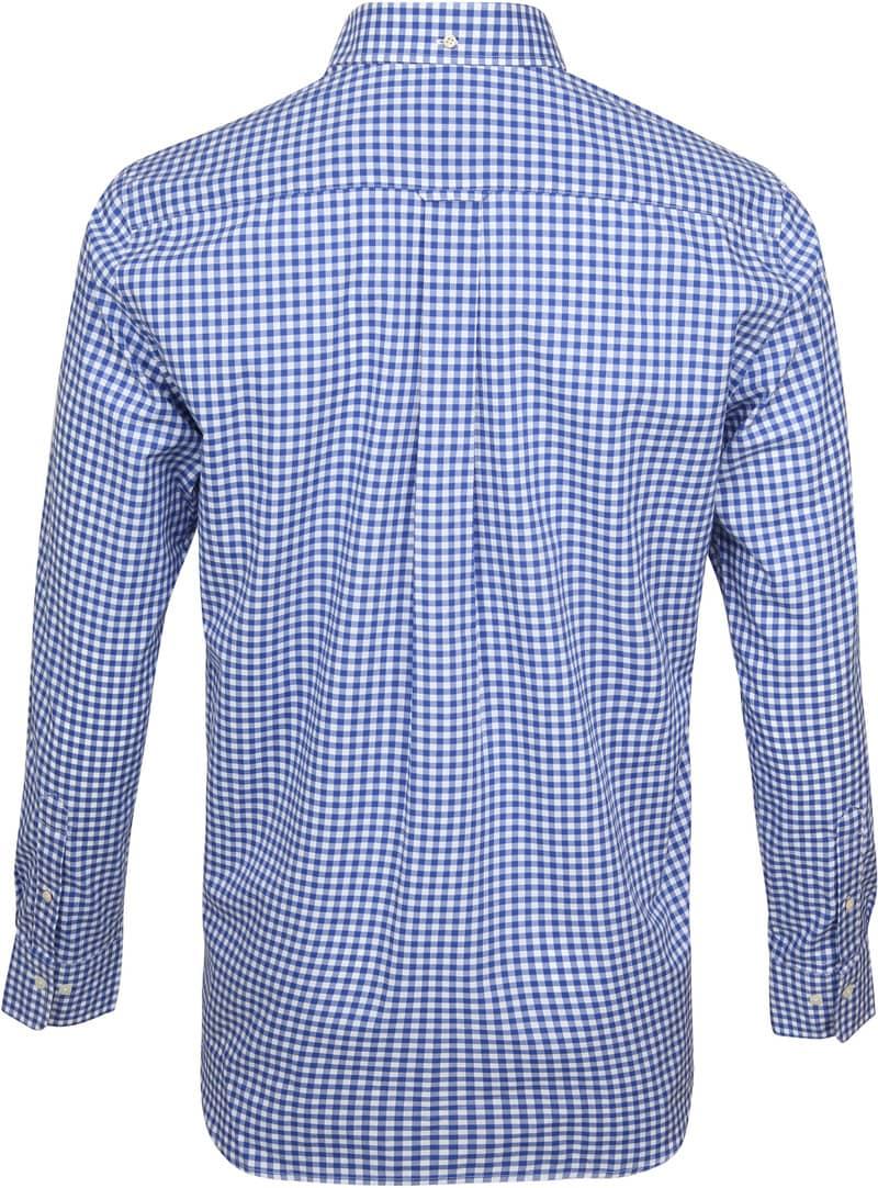 Gant Gingham Overhemd Blauw Ruit foto 3