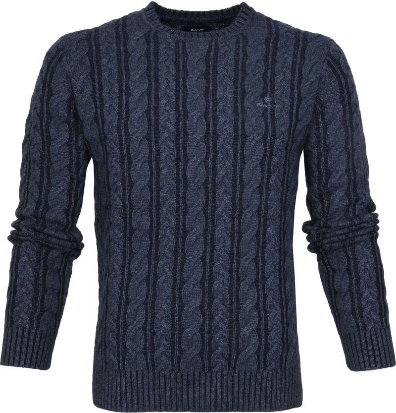 Gant Heavy Cable Pullover Navy photo 0
