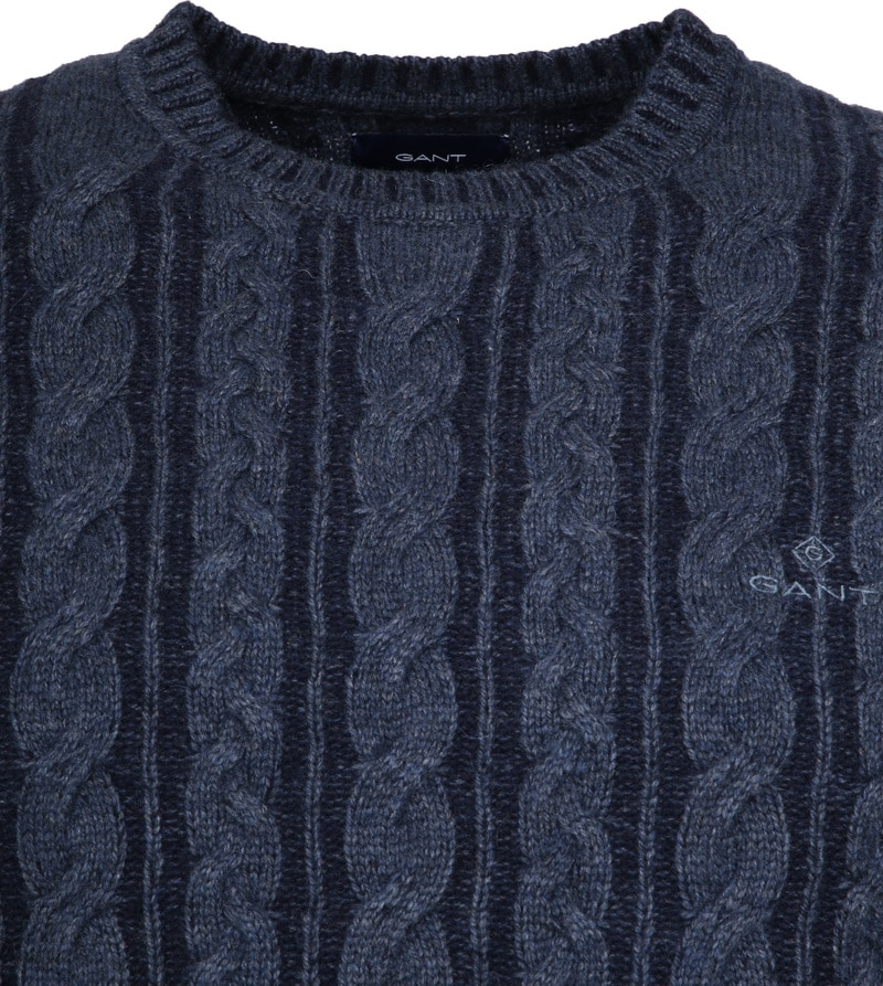 Gant Heavy Cable Pullover Navy photo 1