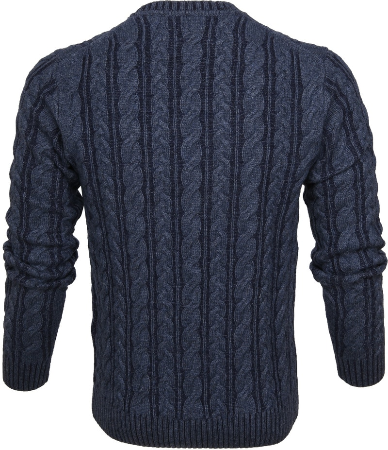 Gant Heavy Cable Pullover Navy photo 3