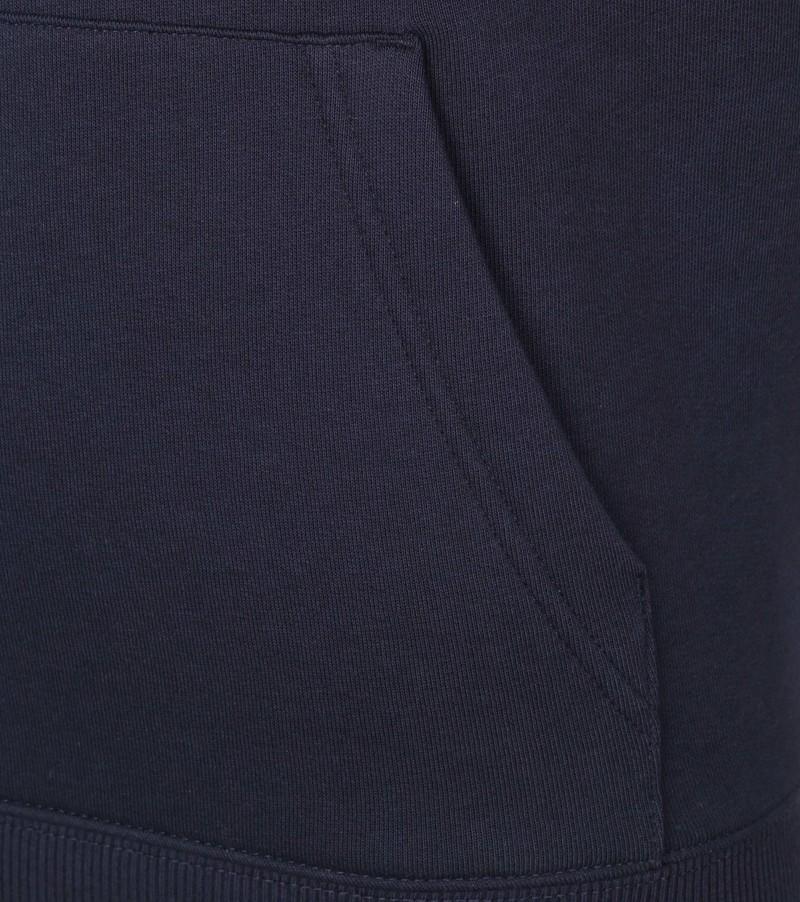 Gant Hoodie Lock Up Donkerblauw - Donkerblauw maat 3XL