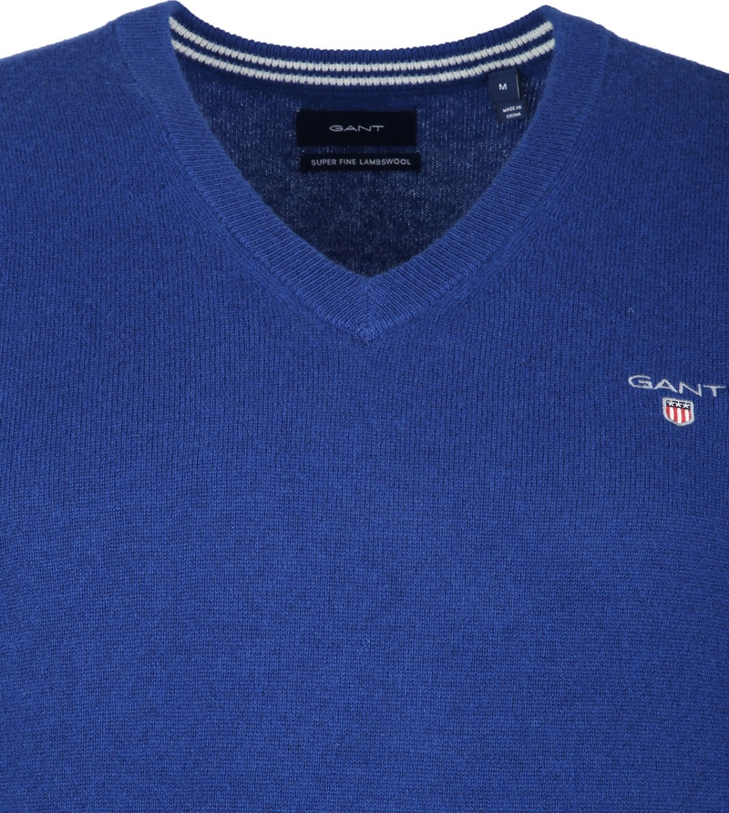 Gant Lambswool Pullover Blue photo 1