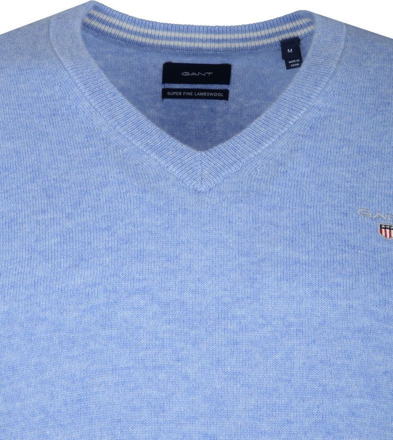 Gant Lambswool Pullover Light Blue photo 1
