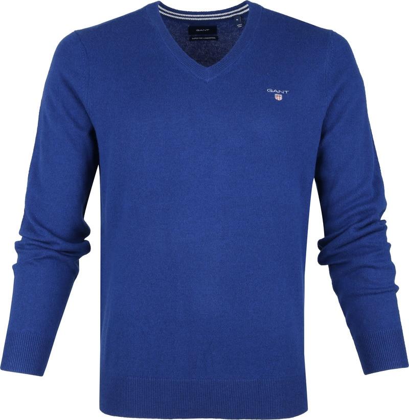 Gant Lamswol Pullover Blauw foto 0