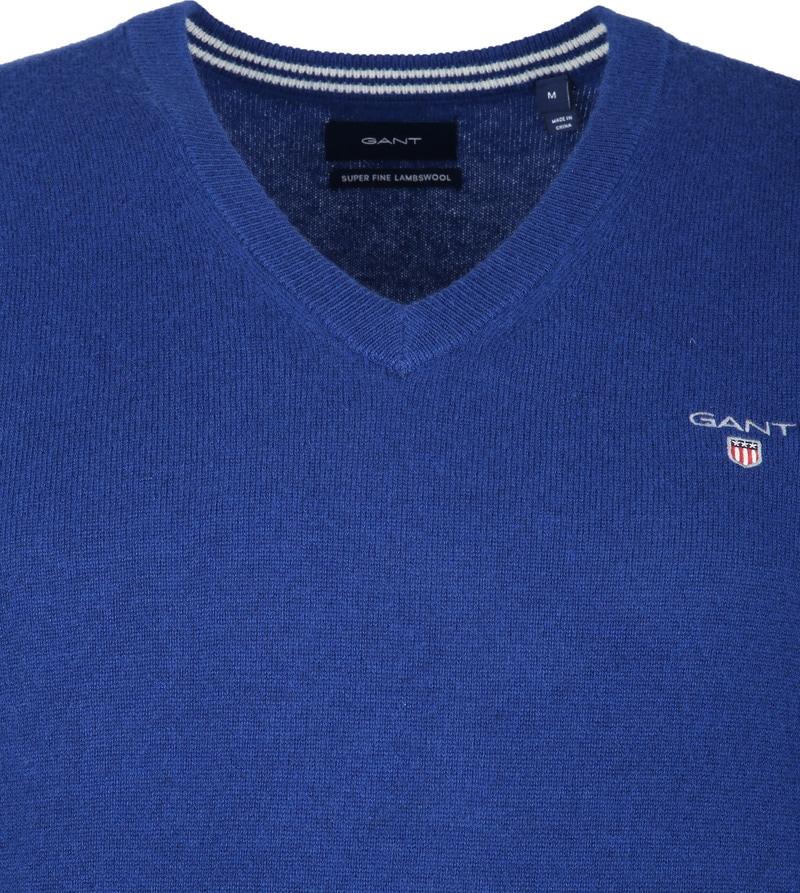 Gant Lamswol Pullover Blauw foto 1