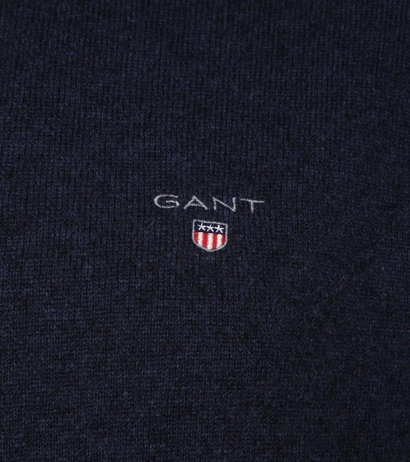 Gant Lamswol Trui Marine Blauw