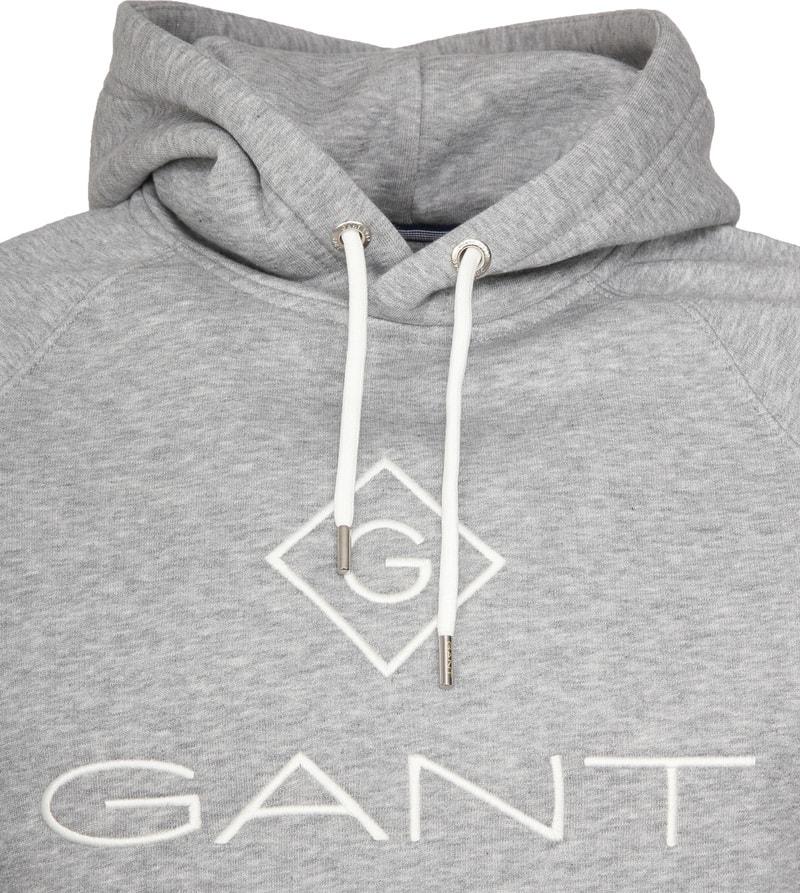 Gant Logo Hoodie Lichtgrijs foto 1