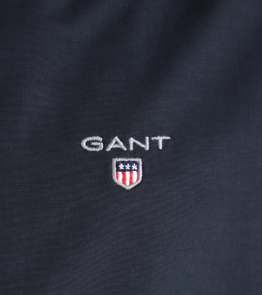 Detail Gant Midlength Jas Donkerblauw