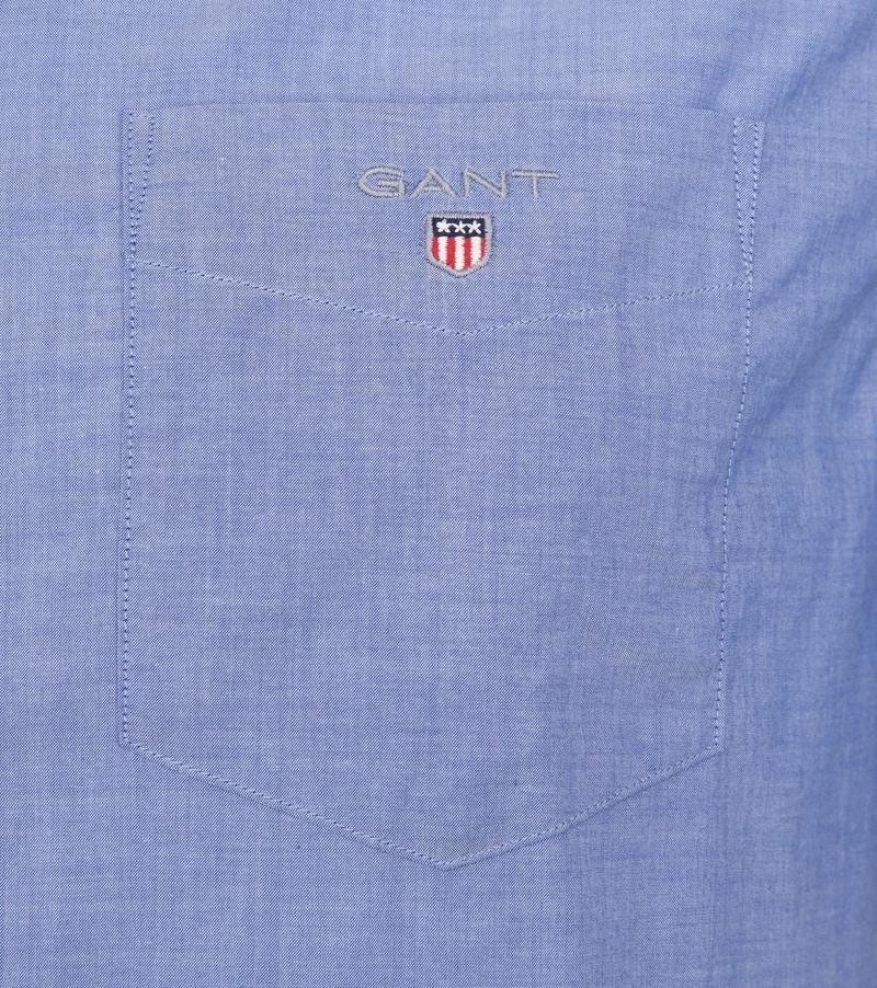 Gant Overhemd Broadcloth Blauw