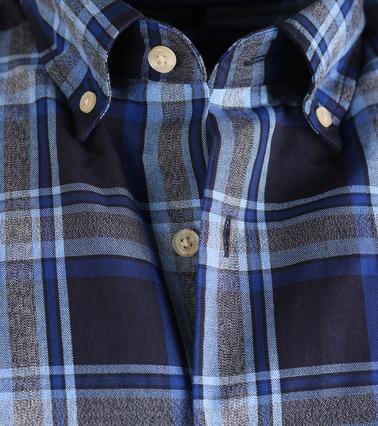 Detail Gant Overhemd Oxford Navy