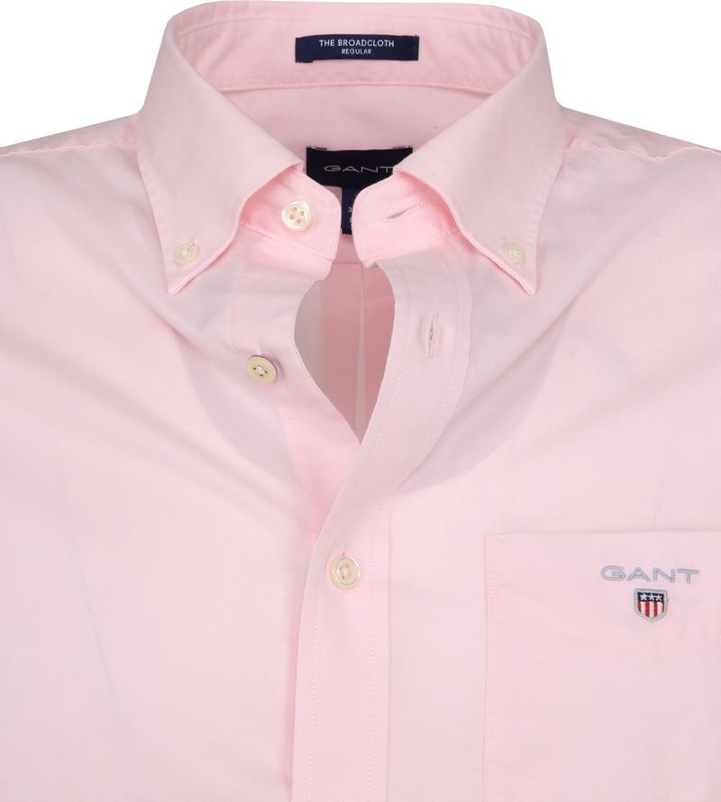 Gant Overhemd SS Broadcloth Roze foto 1