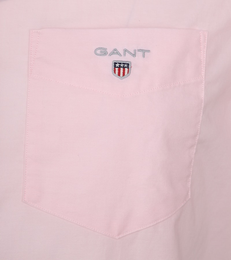 Gant Overhemd SS Broadcloth Roze foto 2