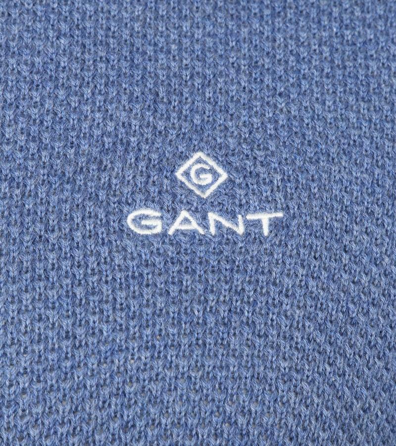 Gant Pique Zip Vest Blauw