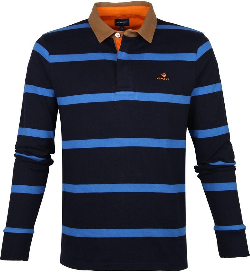 Gant Polo Strepen Donkerblauw foto 0