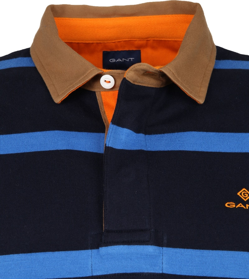Gant Polo Strepen Donkerblauw foto 1