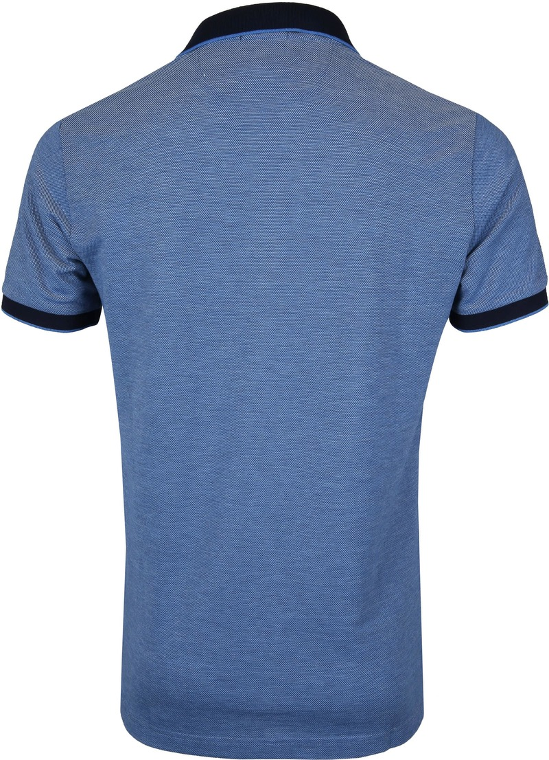 Gant Poloshirt Blauw Melange - Blauw maat 3XL