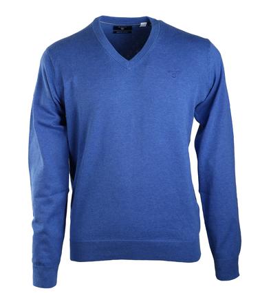 Gant Pullover Katoen V-Hals Middenblauw  online bestellen | Suitable