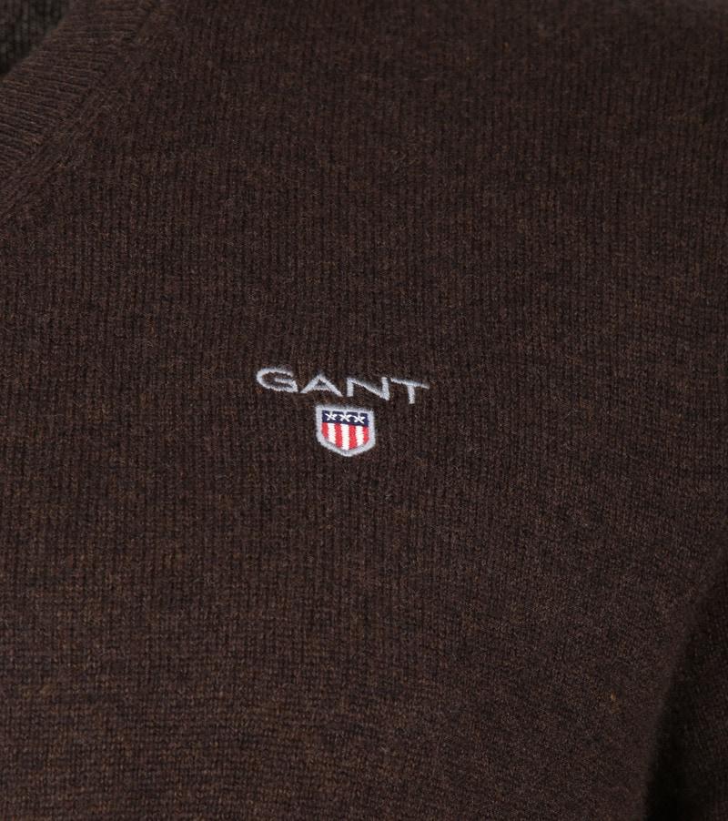 Gant Pullover Lambswool Dark Brown photo 2