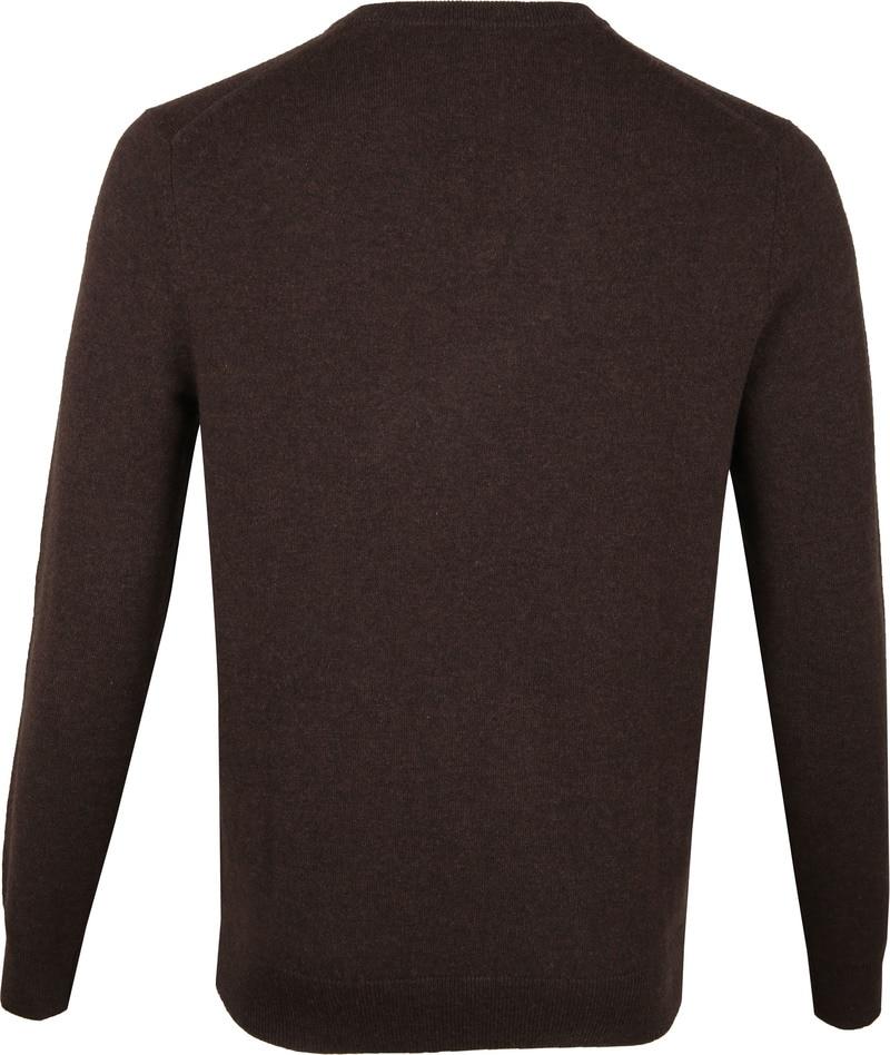 Gant Pullover Lambswool Dark Brown photo 3