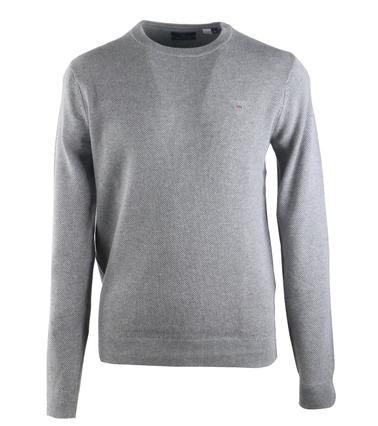 Gant Pullover Pique Grijs  online bestellen | Suitable