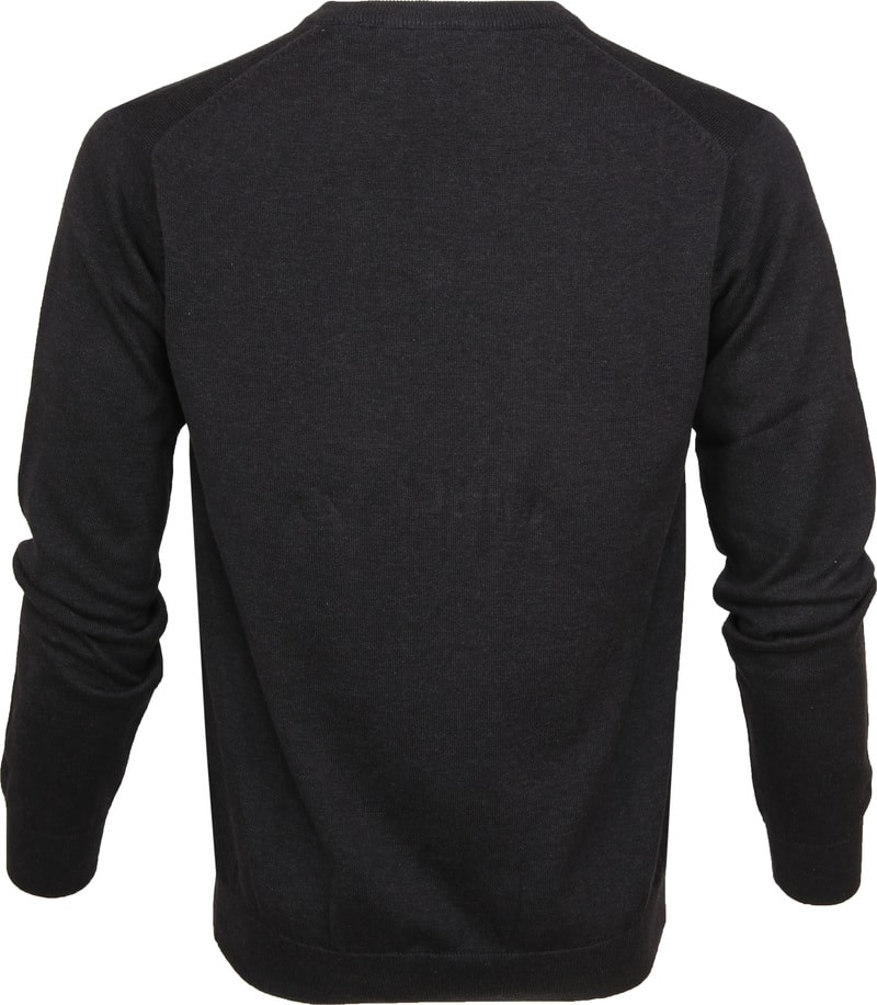Gant Pullover Premium V-Ausschnitt Dunkelgrau Foto 2
