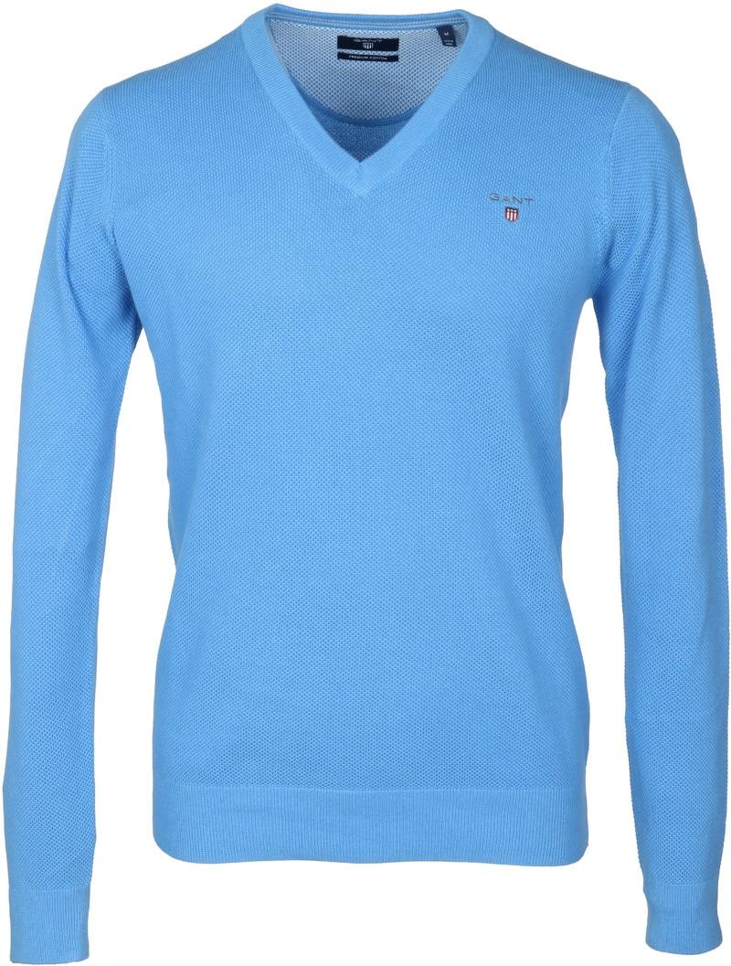 Gant Pullover V-Hals Blauw  online bestellen | Suitable