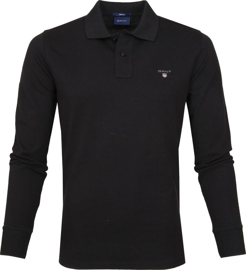 Gant Rugger Poloshirt LS Zwart