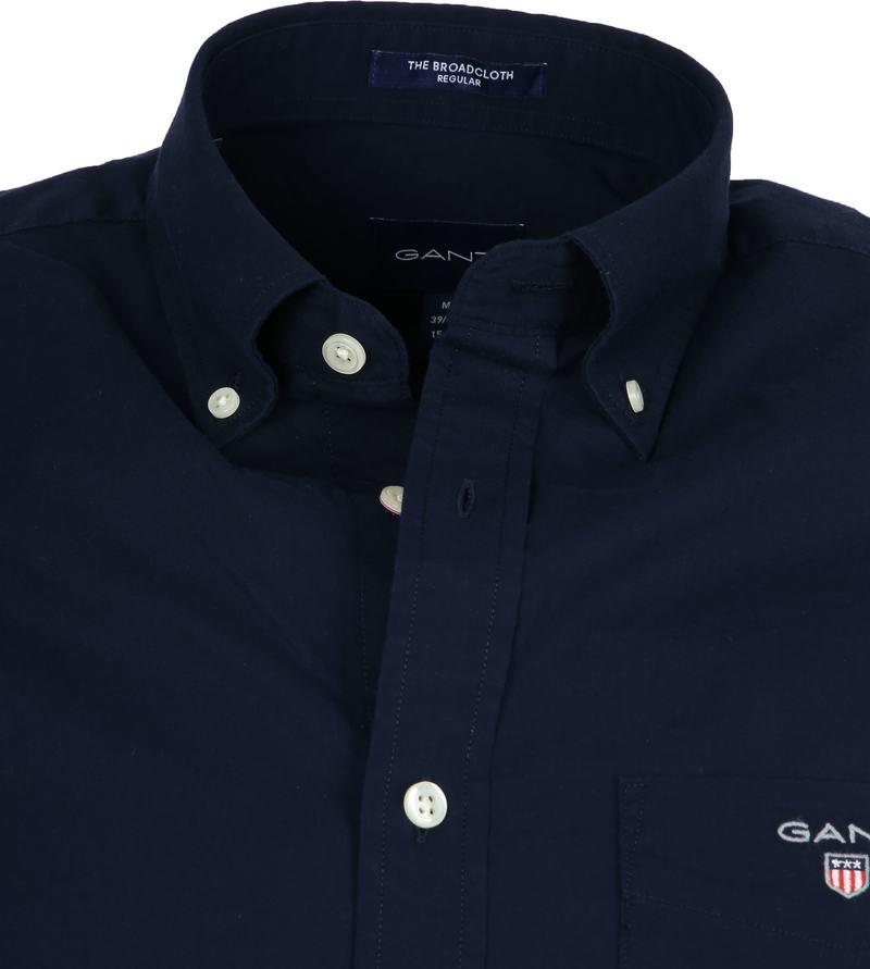 Gant Shirt Boradcloth Navy - Donkerblauw maat L