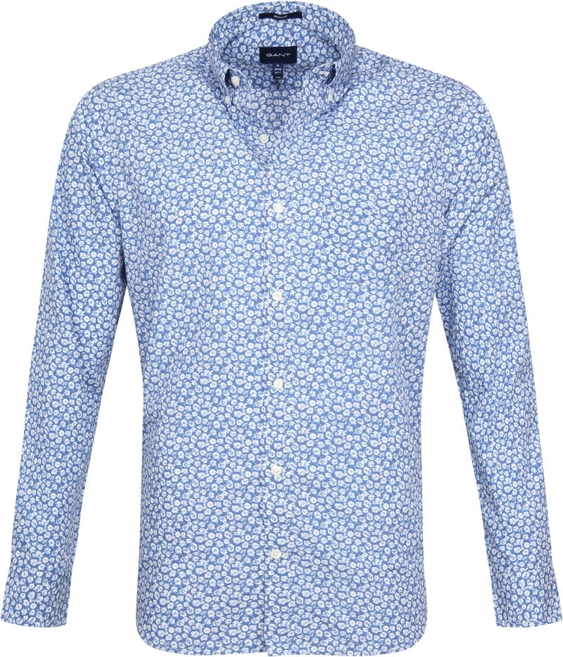 Gant Shirt Flowers Blue photo 0