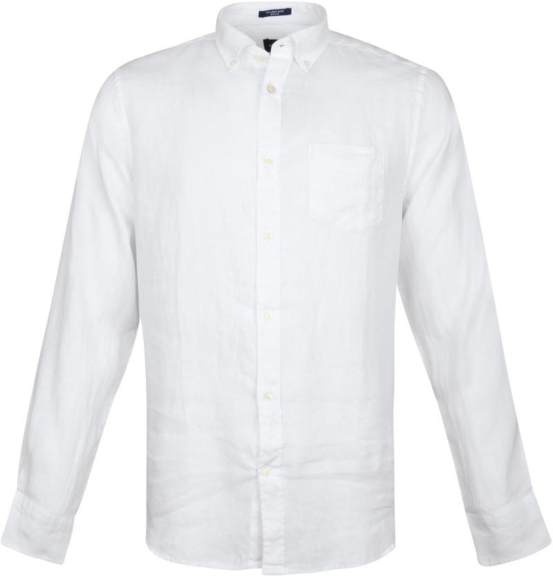 Gant Shirt Linen White photo 0