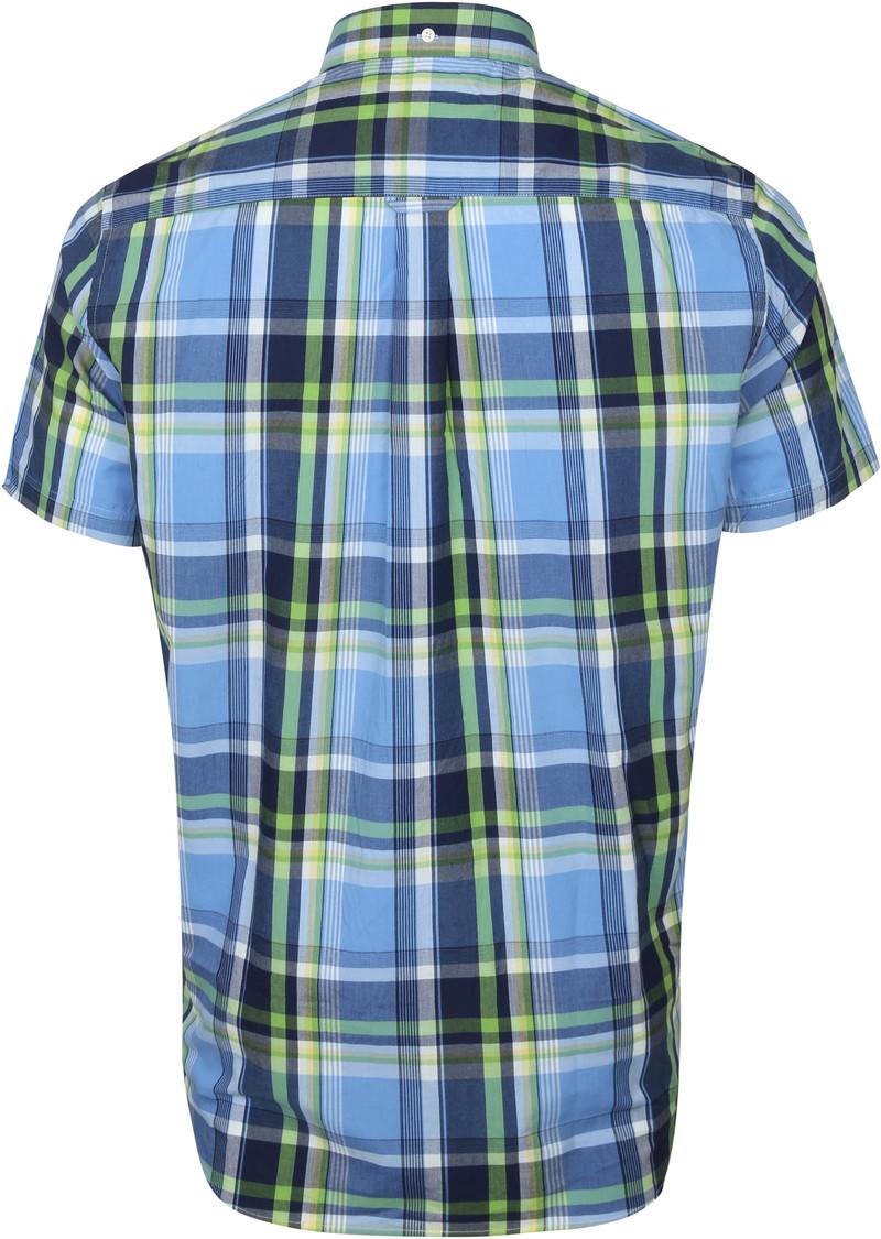 Gant SS Overhemd Ruit Blauw