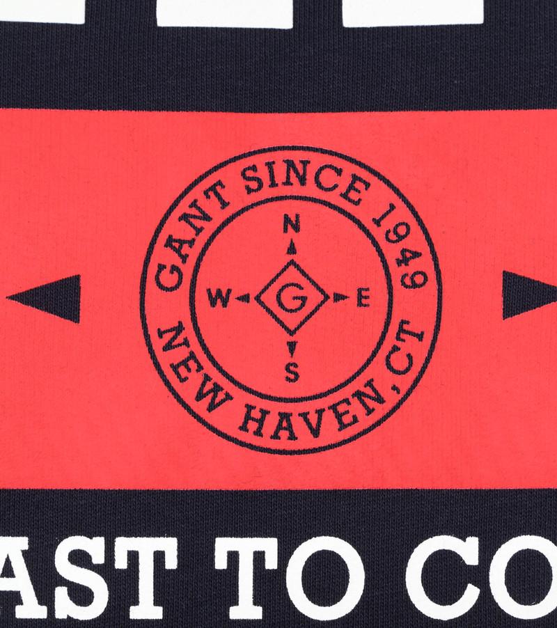 Gant Sweater Nautical Logo Donkerblauw