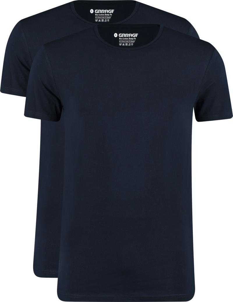 Garage 2-Pack Basic T-shirt Bio Donkerblauw
