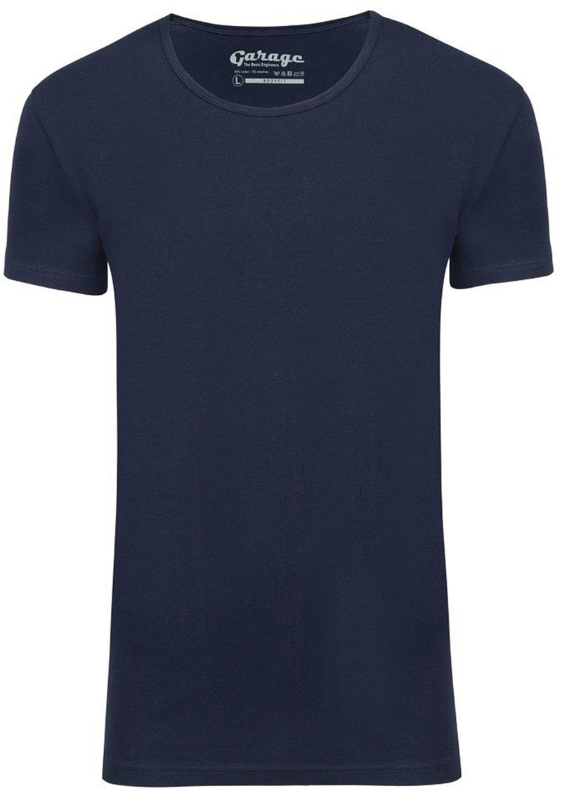 Garage Stretch Basic Dark Blue Deep O-Neck photo 0