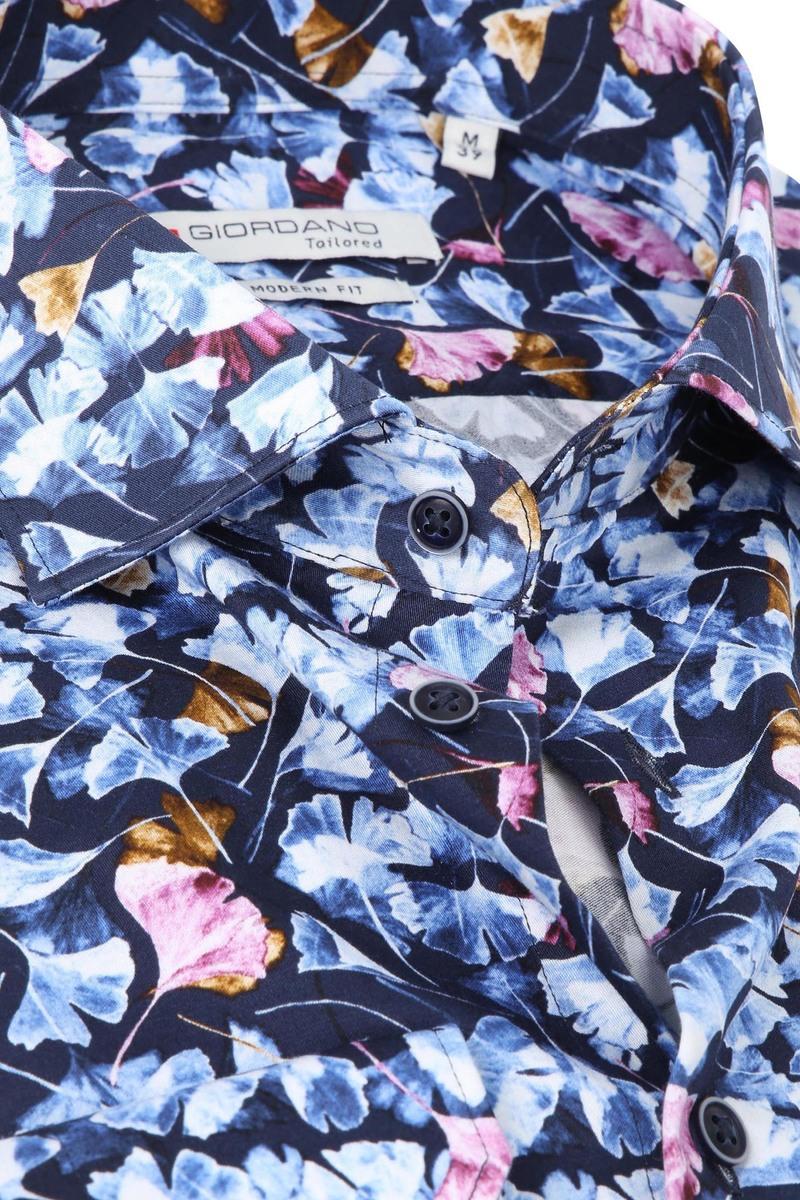 Giordano Overhemd Maggiore Bladeren Blauw