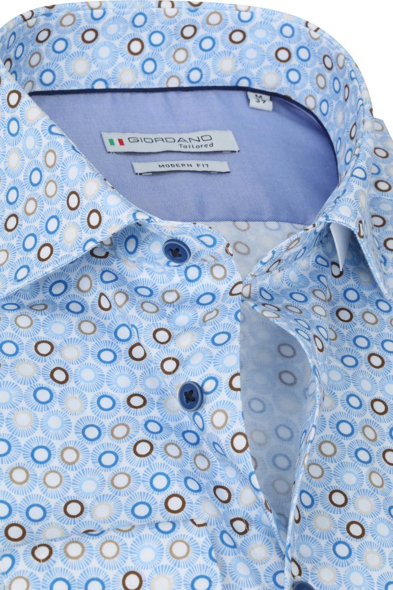 Giordano Overhemd Maggiore Cirkels Donkerblauw