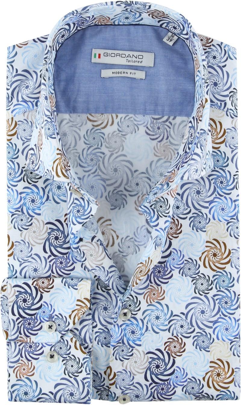 Giordano Overhemd Spiraal Blauw foto 0