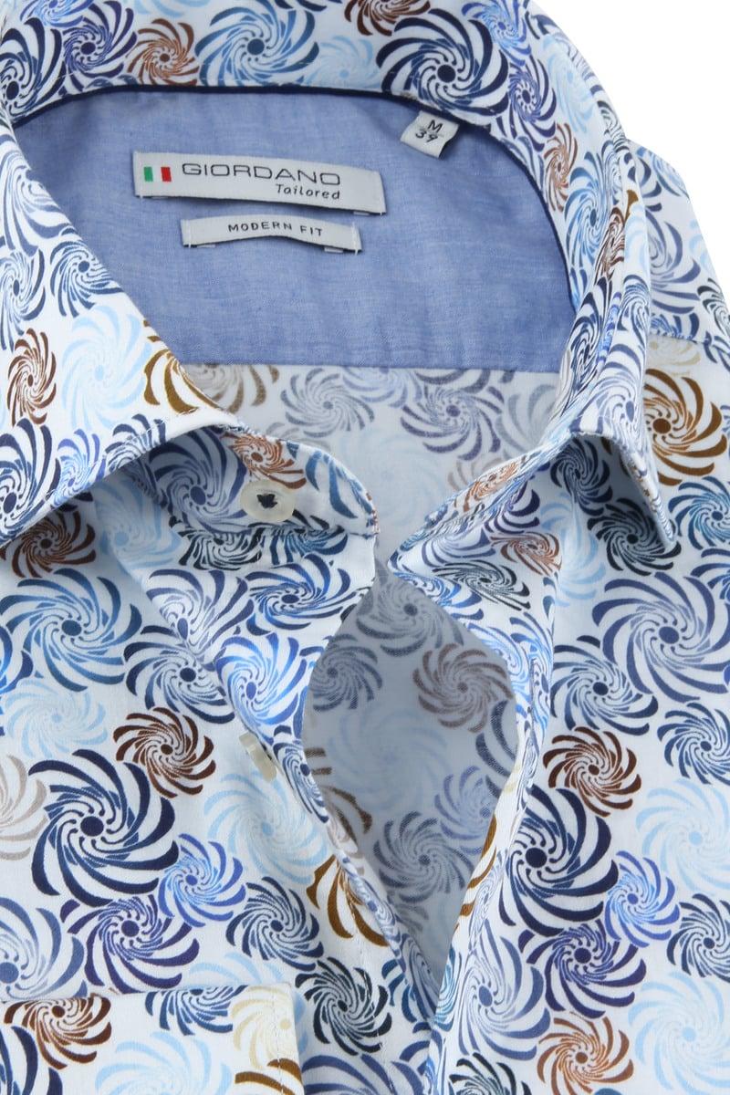 Giordano Overhemd Spiraal Blauw foto 1