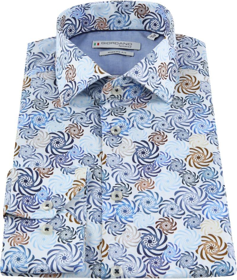 Giordano Overhemd Spiraal Blauw foto 2