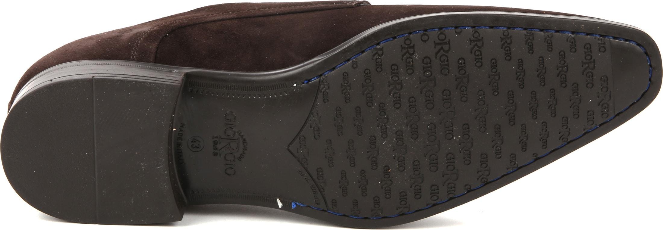 Giorgio Amalfi Shoe Monk Strap Brown Suede photo 3