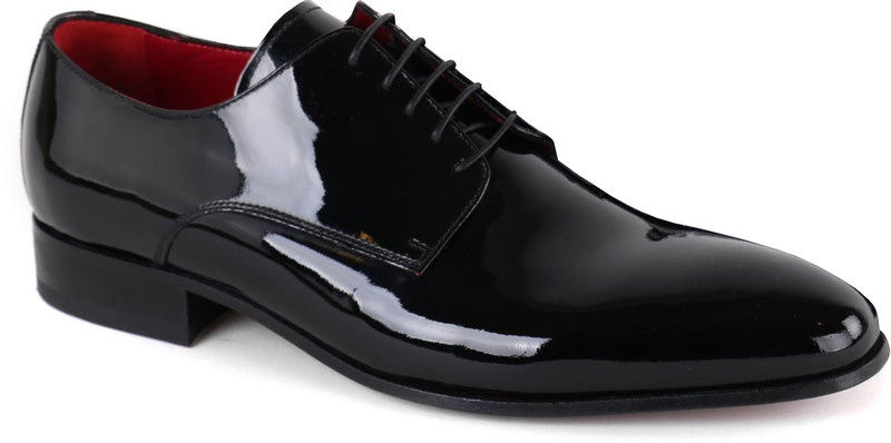 Giorgio Vernice Lace-up Shoe Black photo 0