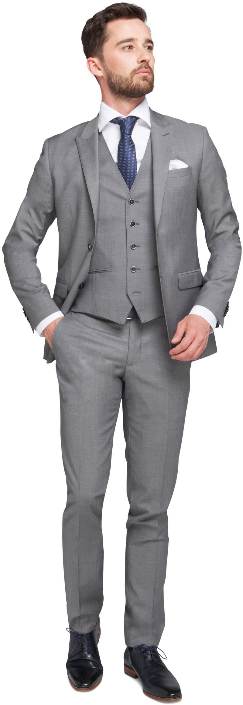Grijs 3 Delig Kostuum  online bestellen | Suitable