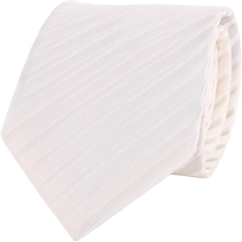 Hochzeitskrawatte Off White Stripe Profuomo