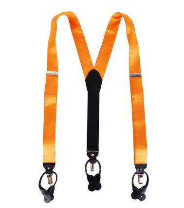 Hosenträger Seide Orange F01 Foto 1