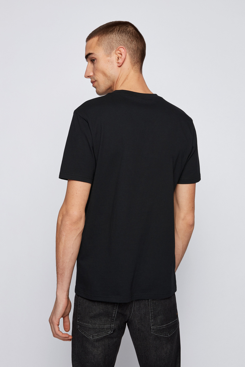 Hugo Boss T-shirt Logo 21 Zwart