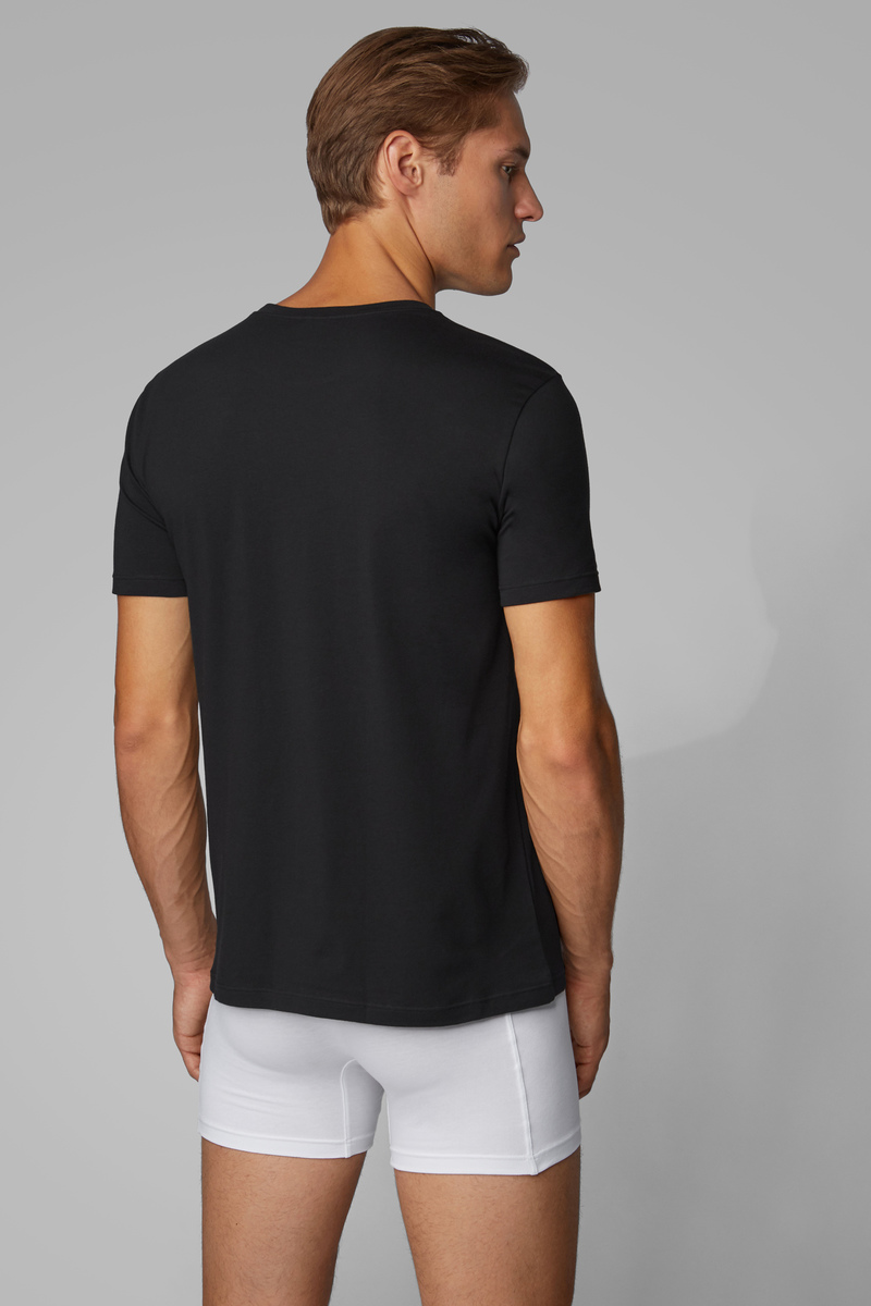 Hugo Boss T-shirt Regular Fit 2-Pack Zwart