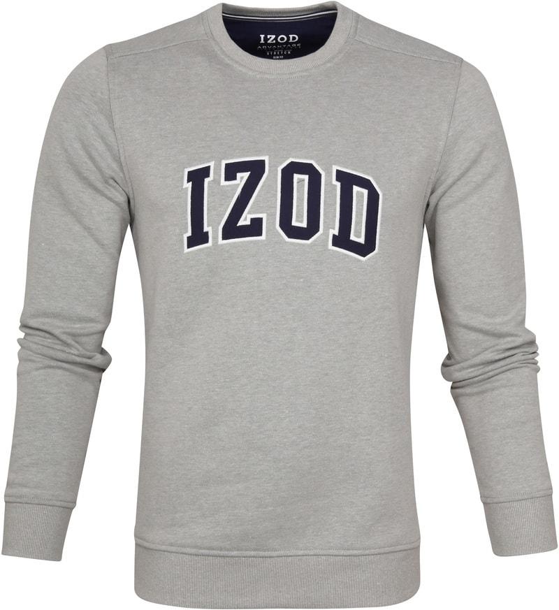 IZOD Fleece Sweater Sport Flex Light Grey photo 0