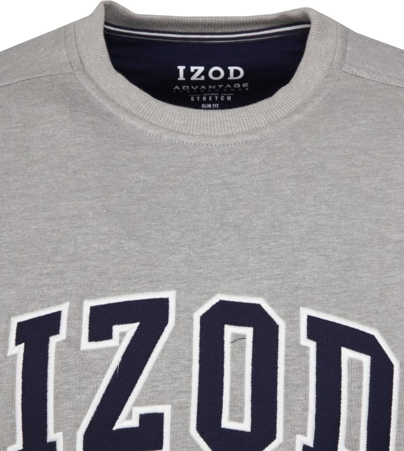 IZOD Fleece Sweater Sport Flex Light Grey photo 1