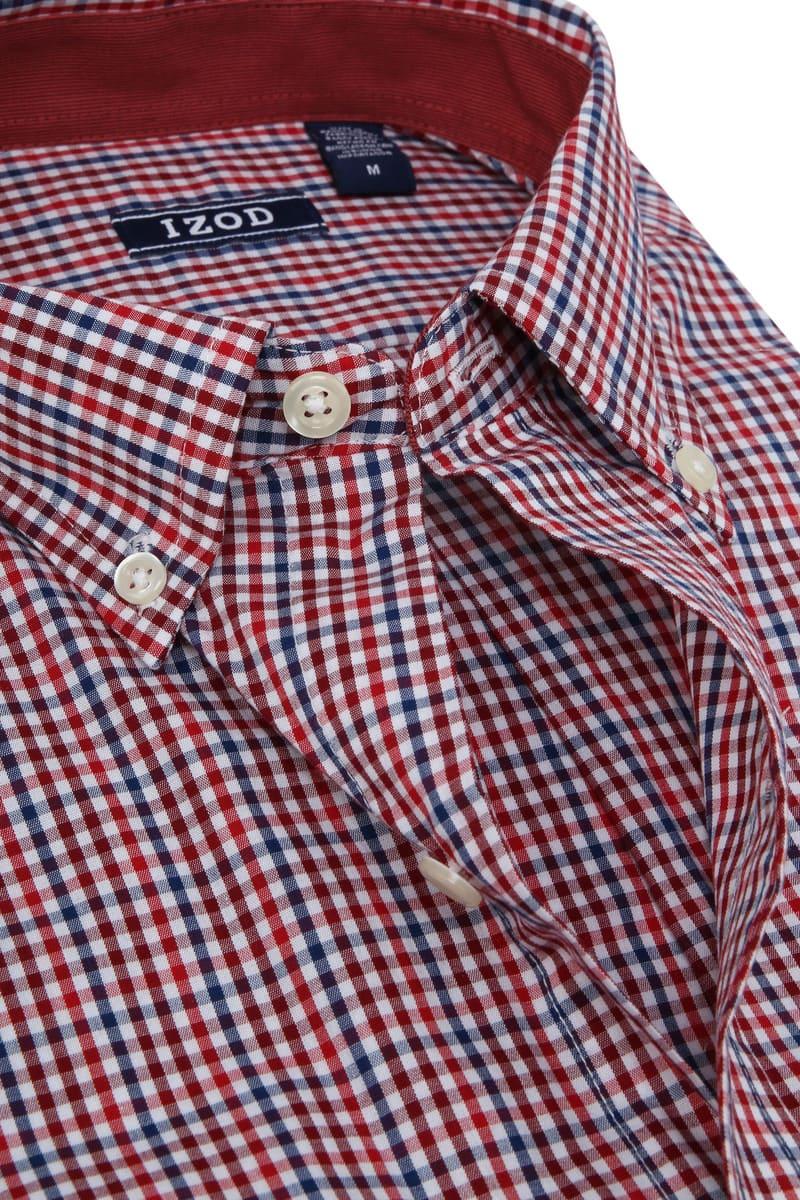 IZOD Overhemd Ruit Rood foto 1