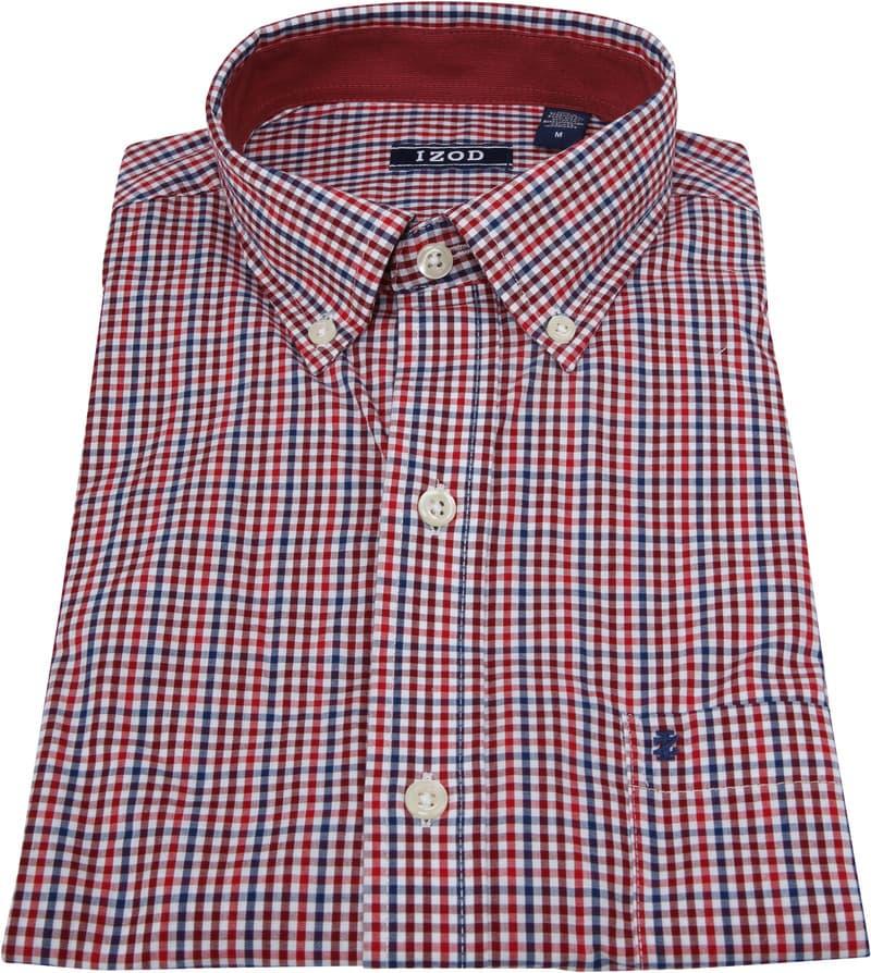 IZOD Overhemd Ruit Rood foto 2